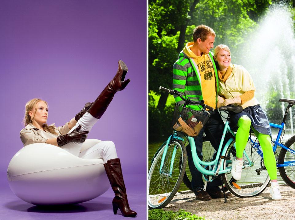 Andiamo ja K-kenkä mainoskuvat 2008