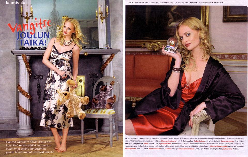 Pirkka-lehden muotijuttu12/2007.
