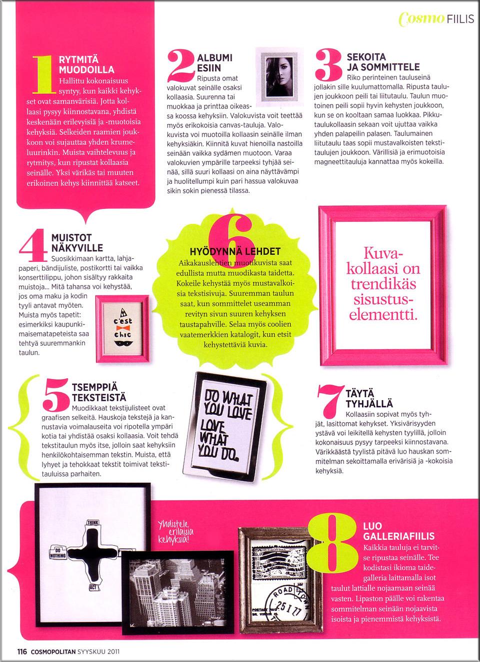 Cosmopolitan syyskuu 2011